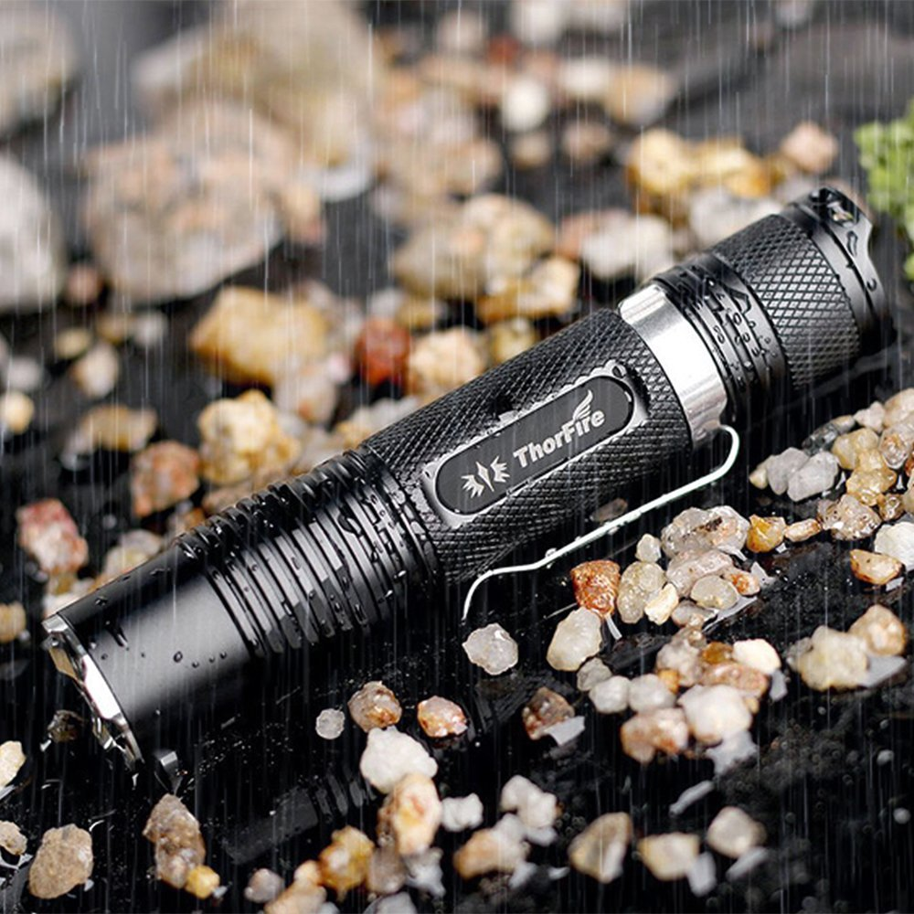 ThorFire VG15S Flashlight with 18650 Battery and Charger, 1070 Lumen, XML2 LED