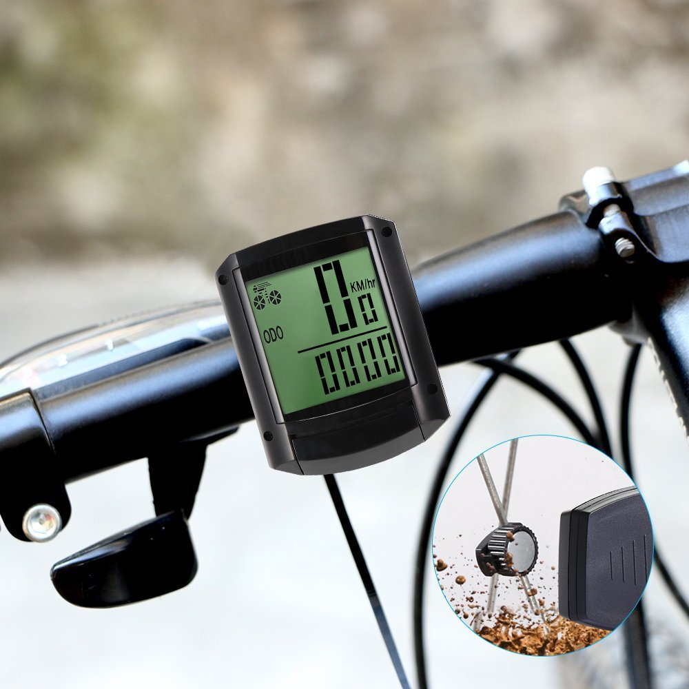 ThorFire W408 Wireless Bicycle Speedometer with LCD Display & Multi-Function
