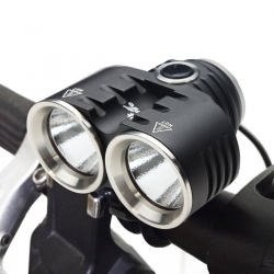 ThorFire BL02 Bike Headlight 1240LM CREE XM-L2 LED Bicycle Headlamp Light Rechargeable 3 Modes