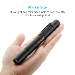 ThorFire PF02S Pen Light. 240 Lumen, 2 AAA Professional Flashlight with Pocket Clip, for Nurse Doctors EDC,